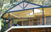 Gable roof and deck in Dapto